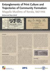 "Muhammed Niyas Ashraf: ""Entanglements of Print Culture and Trajectories of Community Formation: Mappila Muslims of Kerala, 1867 - 1956"""