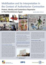"Jannis Grimm: ""Mobilization and its Interpretation in the Context of Authoritarian Contraction: The Evolution of Islamists' Collective Action Frames, Protester Identities, and Repertoires in the Interaction with the Egyptian Regime"""