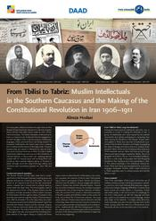 "Alireza Hodaei: ""From Tbilisi to Tabriz; Muslim Intellectuals in South Caucasus and Making the Constitutional Revolution in Iran 1906-1911"""