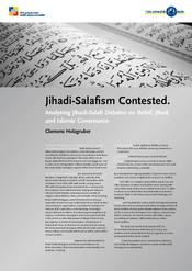 "Clemens Holzgruber: ""Ideological Disputes and Faultlines within Salafi-Jihadism: Analyzing ISIS's understanding of Belief, Jihad, and Islamic Governance and its disputes with the scholars Abū Qatādah al-Filistinī, Abū Baṣīr al-Tartūṣī and Abū Muḥamma"