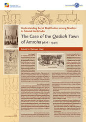 "Soheb Ur Rahman Niazi: ""Understanding Social Stratification among Muslims in Colonial North India: The Case of the 'Qasbah' Town of Amroha (1878 - 1940)"""