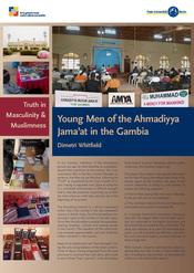 "Dimetri Whitfield: ""Truth in Masculinity & Muslimness: Young Men of the Ahmadiyya Jama'at in the Gambia"""